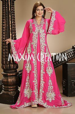 Turkish Wedding Gown Tunisian Cultural Khaleeji Thobe Gandoura For Ladies 4455