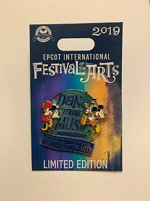 Disney Pin Epcot Festival Of The Arts 2019 Dance To The Music Mickey Minnie Pin