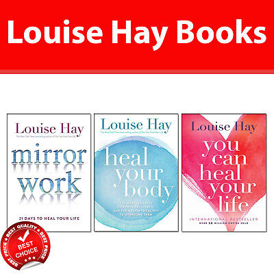 Louise Hay 3 Books Collection Pack Set Mirror Work,Heal Your Body,You Can Heal