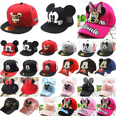 Kids Mickey Minnie Baseball Hip Hop Adjustable Cap Boys Girls Snapback Sport Hat