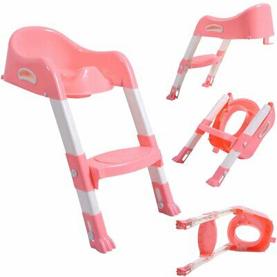 Kids Potty Training Seat with Step Stool Ladder f/ Child Toddler Toilet Chair UR