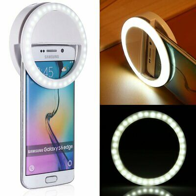 100PCS Rechargable Selfie LED Ring Fill Light Clip Camera 3 Level Brightness MA