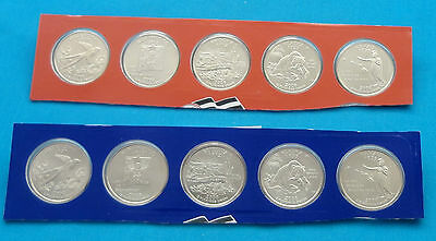 2008 P & D State Quarter 10 Coins from US Mint Set BU Statehood Cello 25c Coin