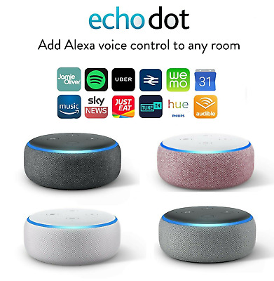 Amazon Echo Dot 3rd Generation Alexa Speaker Charcoal Heather Grey Sandstone NEW