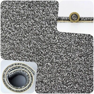 HARDWEARING Dark Grey Felt Back Twist Pile 4m Wide Carpet £6.49m²