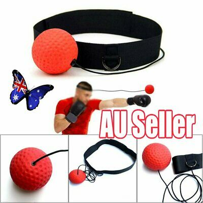 Boxing Punch Exercise Fight Ball Head Band Reflex Speed Training Speedball NW