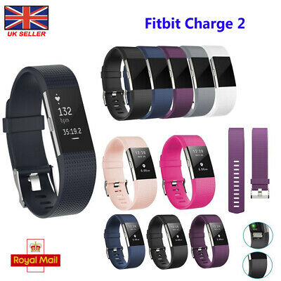 Replace For FitBit Charge 2 Small Large Sport Watch Straps Silicone Wrist Band