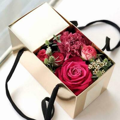 Foldable Flowers Gift Box Holder Florist Packing Case DIY Craft Present Box AU