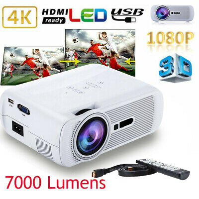 White BL45 LED HD LESHP Mini Projector Home Projector 7000 Lumen 1080P LESHP BY