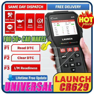 2019 Upgraded LAUNCH X431 CRP123 VII+ OBD2 Diagnostic Scanner Fault Code Reader