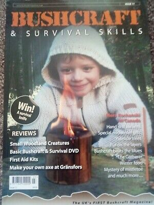 Bushcraft and Survival Skills Magazine x 3 Bundle, Various Issues