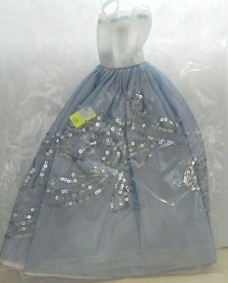 Doll Clothes for Barbie Dress White Blue Netting Sequins Designs