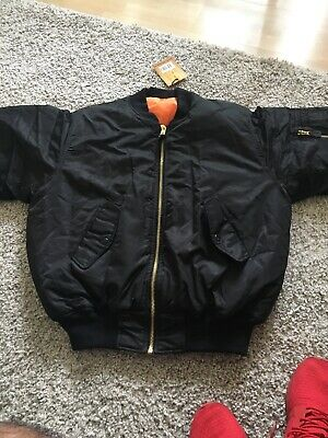 17425ad1a BRANDIT BLACK MA-1 Bomber Jacket Size Medium Yeezy Kanye West Warm MA1