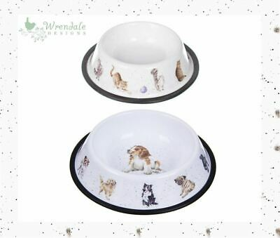 Wrendale Cat or Dog Food Pet Bowl Dish, Puppy Canine Kitty Kitten Pug Cute