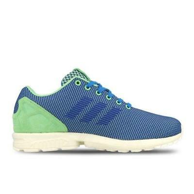 f675c7fa77480 ADIDAS ZX FLUX Weave Trainers Mens Running Sport Torsion Lace Blue ...