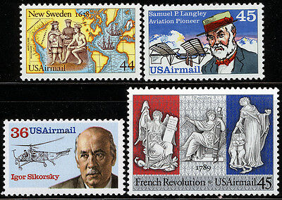 US Scott #C117 C118 C119 &C120  Airmail Commemoratives SET of 4 MNH**FREE SHIP**