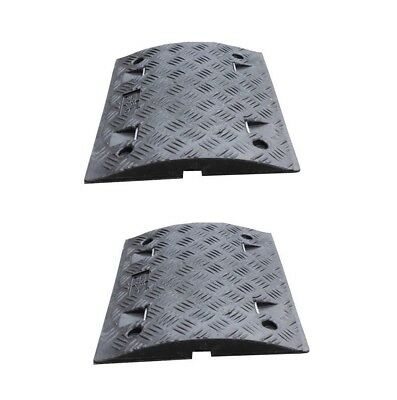 4 black Speed Ramp Sections (75mm) - Includes fixings