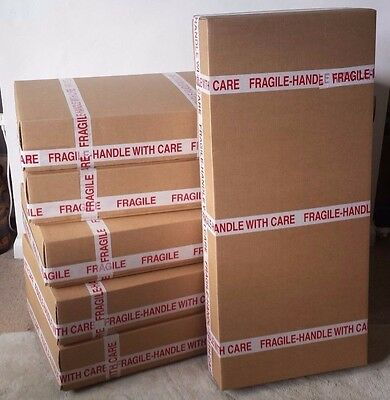 UK Courier Compliant Strong Cardboard Box for shipping a guitar - ELECTRIC