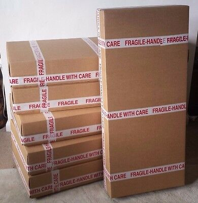 5 x Flat Packed Courier Compliant Cardboard Box for shipping 5 x ACOUSTIC guitar