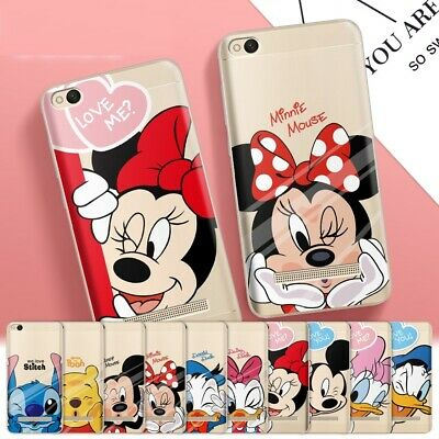 Disney Mickey Minnie Soft Clear Case Cover For Xiaomi Redmi Note 4 4X Mi5 Mi6 A1