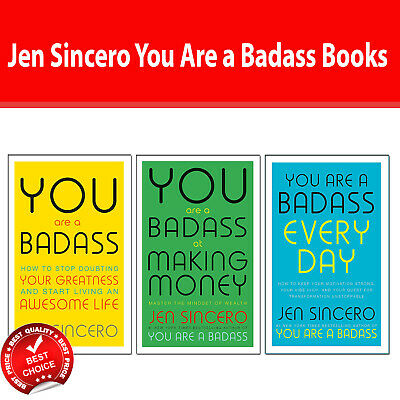 Jen Sincero You Are a Badass 3 Books Collection Pack Set How to Stop Doubting PB