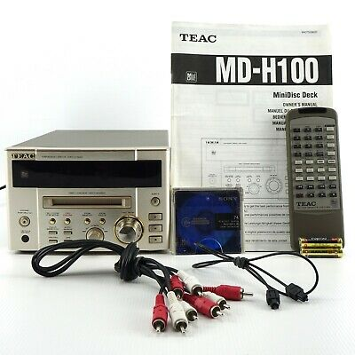 TEAC MD-H100 MINIDISK DECK | Remote & Accessories | Player & Recorder