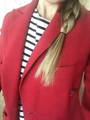 Vintage Moschino Cheap And Chic Red blazer  Double Breasted Jacket ac5a90f250a