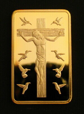 Jesus Christ Crucifixion Cross Ten Commandments Coin Christian Collectibles