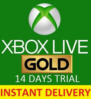 Xbox Live 14 Day Gold Trial Membership Code, 2 weeks 14 Days - Instant Dispatch