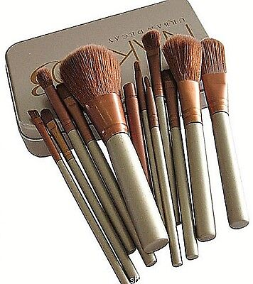 12pcs KABUKI PROFESSIONAL Make up Brushes Set Powder Foundation Blusher ✔️+CASE