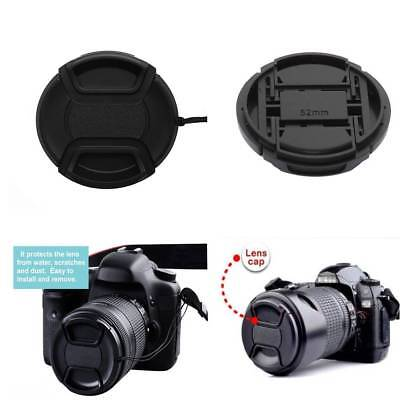 2Pcs 52mm Center Pinch Snap-on Front Lens Cap For Camera Lens Filters Accessory