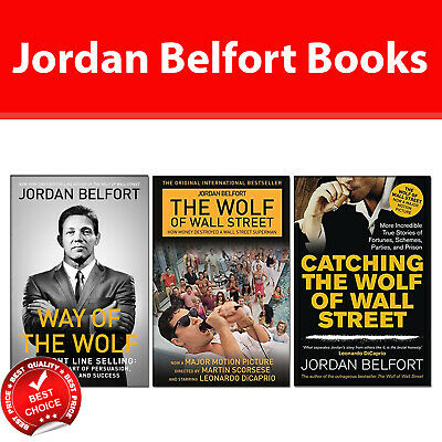 Jordan Belfort Books Collection Pack Set Way of the Wolf, Wolf of Wall Street