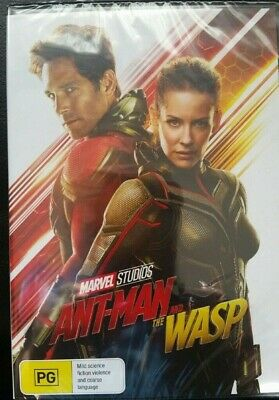 Ant Man And The Wasp 2018 -Marvel Genuine Aust Release Region 4 Dvd New & Sealed