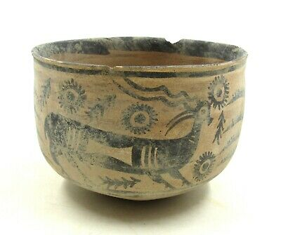 Authentic Ancient Indus Valley Terracotta Bowl W/ Stag - L334