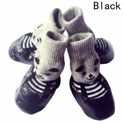 Pet Socks 4pcs Waterproof Non Slip Rain Snow Boots Cats Cotton Rubber Dog Shoes
