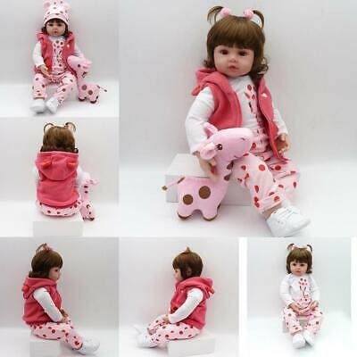Kids Soft Silicone Realistic With Clothes Reborn Baby Doll s2zl 17