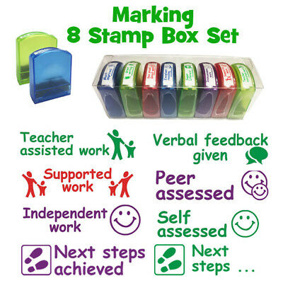Teacher Stamps - 8 Box Set - Next steps, Peer/self assessed, Verbal feedback & m