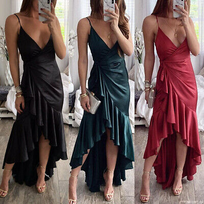 HOT Spring Women's Sexy Strapless Dress Evening Cocktail Party Long Skirt
