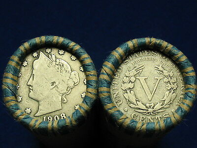 @ Nice Shotgun Roll Full Of Liberty V Nickels From Old Collection 1883-1912 @