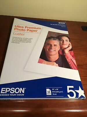 Epson Ultra Premium Photo Paper LUSTER (13x19 Inches, 50 Sheets) (S041407)