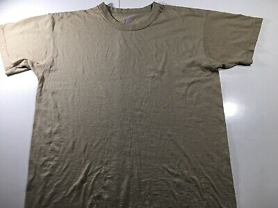 9c1480e1 Vintage Soffe Mens Large 50/50 Military Brown Short Sleeve T Shirt Made in  USA