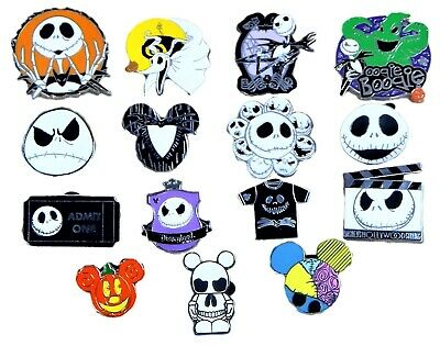 Jack Skellington Nightmare Before Christmas 10 Disney Park Trading Pins Set ~NEW
