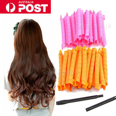 40X 55cm Newly Magic Hair Curlers Curl Former Spiral Ringlets Leverage Rollers