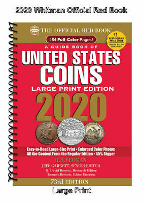 2020 Red Book Price Guide, 73rd Edition, Large Print, SHIPPING NOW!