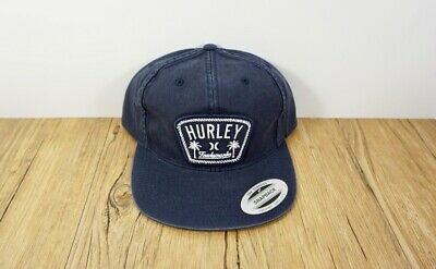 finest selection d205b 0c4a5 NWT Hurley Roped In Adjustable Snapback Hat Cap MHA0008280 Navy Blue