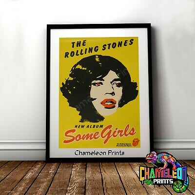 The Rolling Stones Some Girls Poster A3 A4 Retro Music Prints