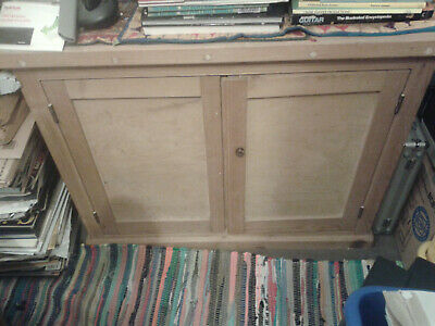 Victorian Pine Cupboard With Fully Working Doors - Ready To Use
