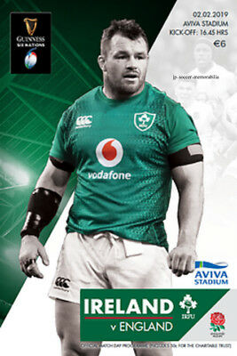Ireland v England - Guinness Rugby Union 6 (Six) Nation's - 02 February 2019