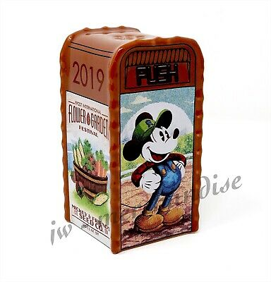 Disney Epcot 2019 Flower Garden Festival SALT PEPPER SHAKER-Mickey's Garden NEW