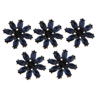 5pcs Alloy Rhinestone Shank Buttons Sewing Button DIY Cothing Accessories
